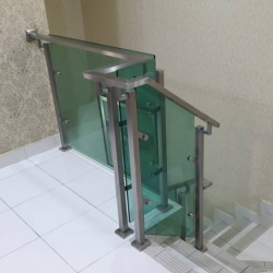 Stainless Steel C/w Tempered Glass Railing
