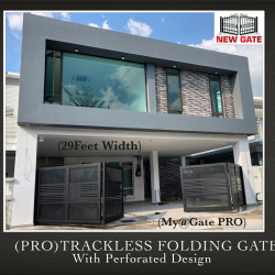 (PRO) Trackless Folding Gate with Perforated Design