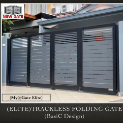 (ELITE) Trackless Folding Gate (Basic Design)