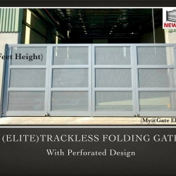 (ELITE) Trackless Folding Gate with Perforated Design