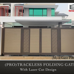 (PRO) Trackless Folding Gate with Laser Cut Design