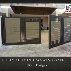 Fully Aluminium Swing Gate (Basic Design)
