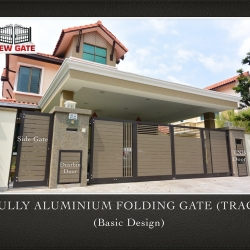 Fully Aluminium Folding Gate (TRACK) (Basic Design)