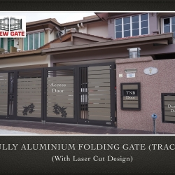 Fully Aluminium Folding Gate (TRACK) (with Laser Cut Design)