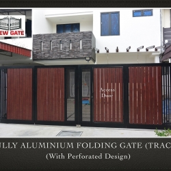 Fully Aluminium Folding Gate (TRACK) (with Perforated Design)