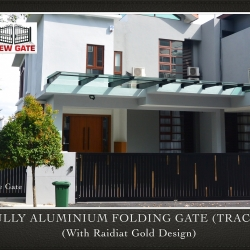 Fully Aluminium Folding Gate (TRACK) (with Raidiat Gold Design)