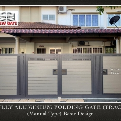 Fully Aluminium Folding Gate (TRACK) (Manual Type) Basic Design