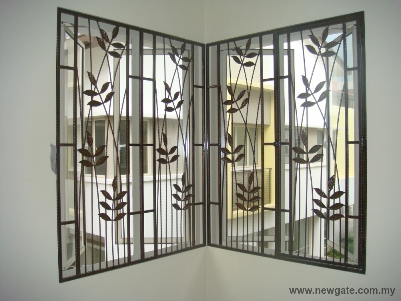 ... Window Grill Designs For Homes Dwg   Home And Landscaping .